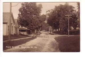 Main St, Groton Vermont, Row Boats, Real Photo, Eastern Illustrating 47