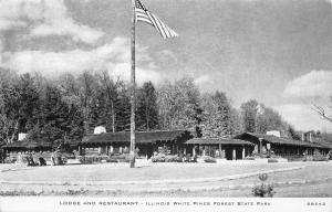 Mount (Mt) Morris IL Lodge & Restaurant~White Pines State Park~C R Childs 1940s