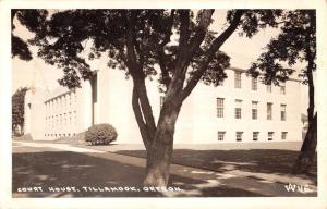 Tillamook Oregon Court House Real Photo Antique Postcard K33624