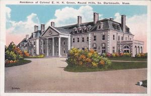 Massachusetts South Dartmouth Residence  Of Colonel E H R Green Round Hills