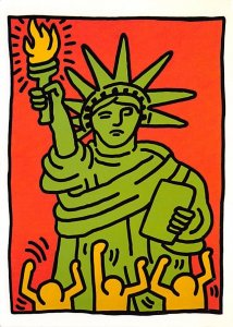 Statue of Liberty Post Card Keith Haring Unused