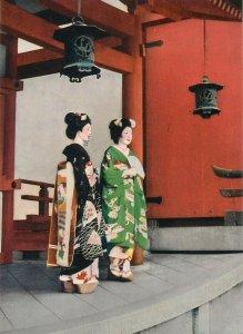 Japanese ethnic geishas postcard