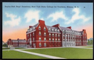 New York ALBANY Sayles Hall Boy's Dormitory NY State College for Teachers LINEN