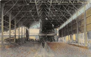 Alabama AL Postcard c1910 BIRMINGHAM Pig Iron Factory CAST HOUSE Moulding Worker