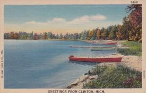 Michigan Greetings From Clinton 1950 Curteich