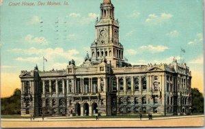 Burlington, Iowa IA ~  Des Moines County Court House vintage Postcard