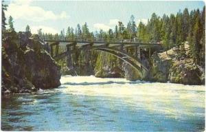 Chrittendon Bridge Yellowstone River Yellowstone Park WY