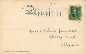 Mt. Vernon OH~Bulging Dormers Atop Central School Tower~Flag Pole~1905 Postcard