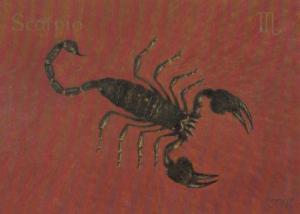 Scorpio Zodiac by Queen Elizabeth II Military Guards Famous Painter Postcard