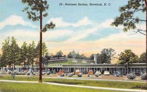Havelock NC~Cunningham Blvd~Art Deco Shopping Center~Cherry Theatre~Burned~Linen