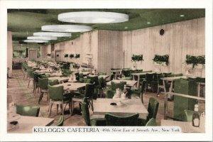 Kellogg's Cafeteria New York NY Unused Advertising Postcard F81