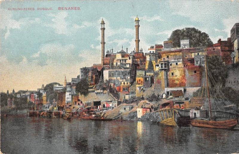 B96118 aurungzebes mosque benares    india