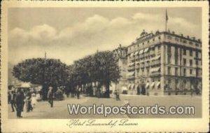 Hotel Luxernorhaf Lucerne Swizerland Unused