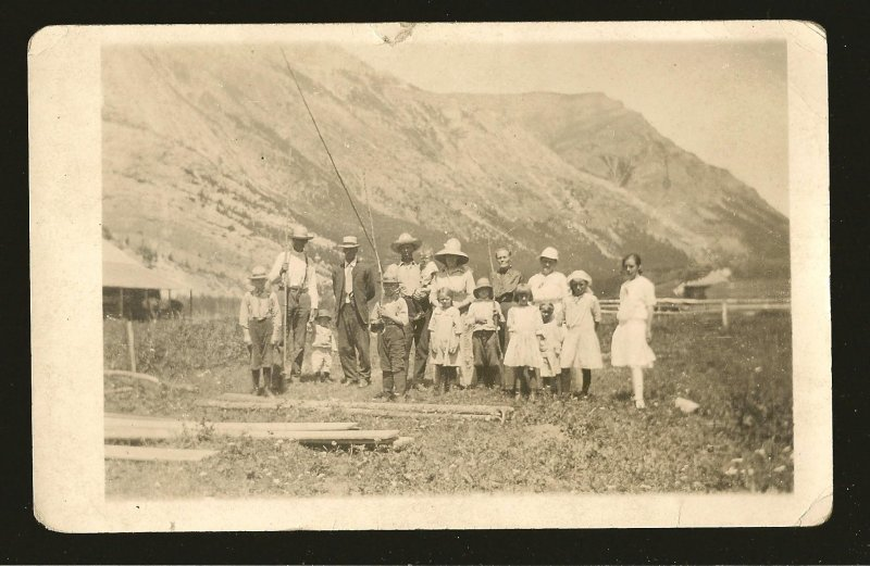 Vintage Made in Canada Group of People Real Photo Postcard Unposted