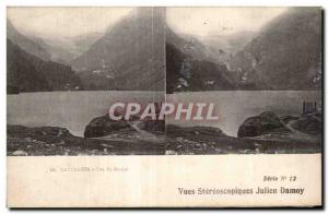 Old Postcard Views stereoscopic Julien Damoy Cauterets Lake Gaveh