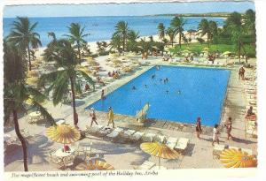 Bird's Eye View, Magnificent beach and swimming pool of the Holiday Inn, Arub...
