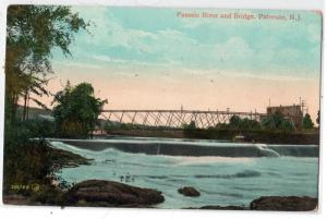 Passaic River & Bridge, Paterson NJ