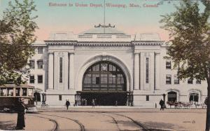 WINNIPEG, Manitoba, Canada, 1900-1910s; Entrance To Union Depot