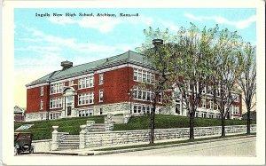 Ingalls New High School Atchison Kans. KS Vintage Postcard Standard View Card