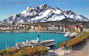 Luzern und Pilatus Schiff Boats Lake Lac Promenade Panorama