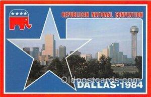 Republican National Convention Dallas, Texas 1984 Political Unused