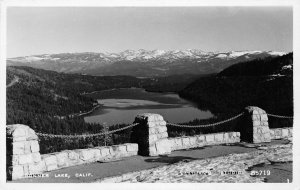 RPPC DONNER LAKE, CA Vista Point Lookout ca 1950s Vintage Eastman's Postcard