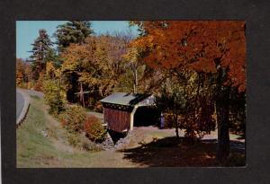 NH Covered Bridge Drewsville New Hampshire Postcard