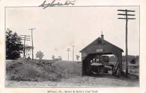 Millway Pennsylvania~Moore & Reitz's Coal Yard~Fairbanks Scales~Lumber Feed~1909