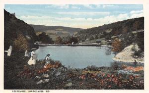 Lonaconing Maryland~Gals in White @ Reservoir~1920s Postcard