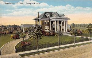 D73/ Paragould Arkansas AR Postcard c1910  Residence J.D. Block Home