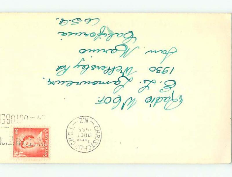 1955 vintage QSL HAM RADIO CARD Christchurch South Island NEW ZEALAND t1807