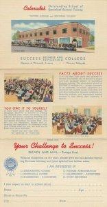 DENVER, Colorado, 1930-40s ; Success Business College (Tri-Fold)