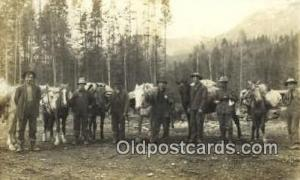 Gold Miners Real Photo People Working Postcard Post Card, Old Vintage Antique...