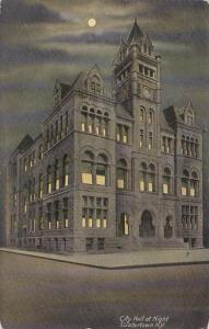 New York Watertown City Hall At Night 1914