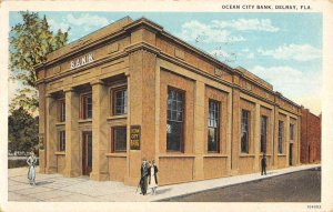 Delray Florida Ocean City Bank Exterior Vintage Postcard KK407
