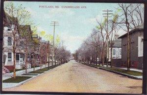 P1374 old unused postcard cumberland ave portland maine