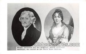 Thomas Jefferson & His Daughter Martha Jefferson Randolph Unused