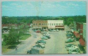 Berryville Arkansas~Public Square~Main Street~Ben Franklin~1950s Cars & Pick-Up
