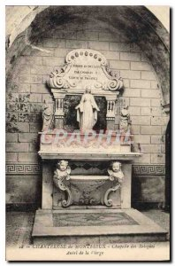 Old Postcard Chartreuse Montrieux Chapel of the Relics Altar of the Virgin