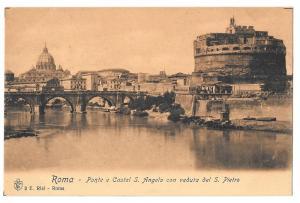 Italy Rome Castel S Angelo Bridge View of Saint Peters