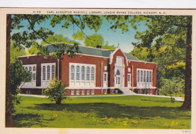 North Carolina Hickory Carl Augustus Rudisill Library Lendir Rhyne College