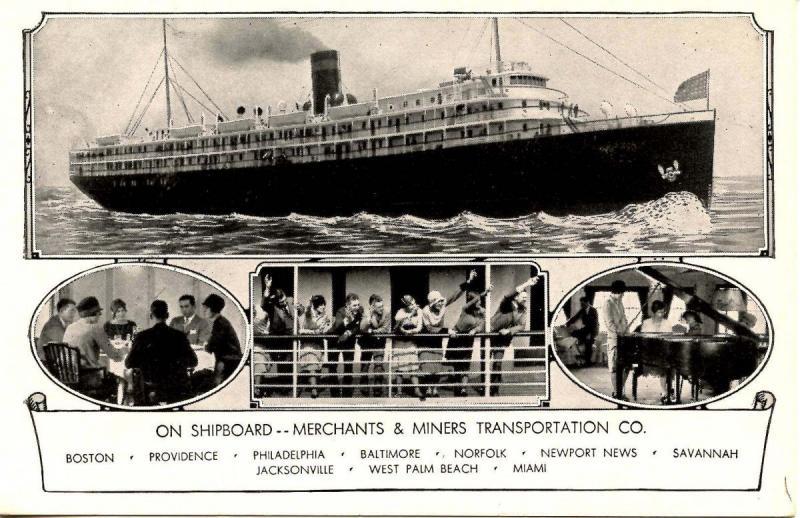 Merchants & Miners Transportation Co. - On Shipboard