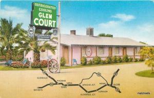 1950s Guest Court roadside Glendale Arizona Motel Contract postcard 10465