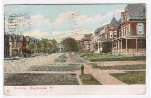 Broadway Hagerstown Maryland 1907 postcard