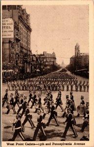 Vtg 1910 West Point Cadets 15th & Pennsylvania Avenue Taft Inauguration Postcard