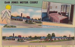 Florida Jacksonville Dan Jones Motor Court Hotel One Mile South Of Bridge