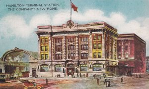 HAMILTON , Ontario , PU-1908 ; New Terminal Station (Electric Trolly cars)