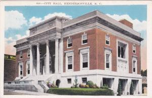 HENDERSONVILLE , North Carolina, 1910s-20s; City Hall, Exterior view