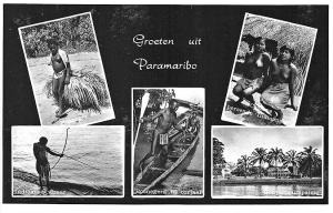 Paramaribo Venezuela Partial Nude Natives Multi-View RPPC Postcard