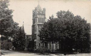 F52/ Metamora Michigan RPPC Postcard 1929 Church Building
